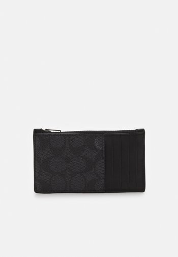 ZIP CARD CASE IN SIGNATURE - Wallet - charcoal