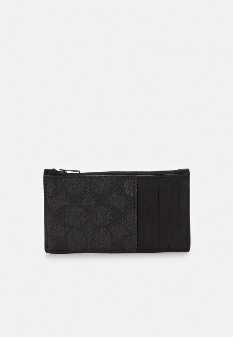 Coach - ZIP CARD CASE IN SIGNATURE - Wallet - charcoal