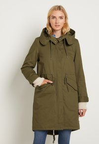 TOM TAILOR - AUTHENTIC WINTER - Parka - olive night green - 0