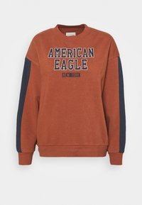 American Eagle - BRANDED CREW - Sweatshirt - rust - 0