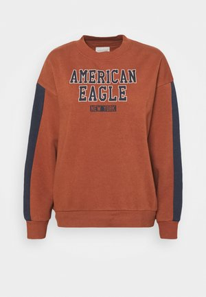 BRANDED CREW - Sweatshirt - rust