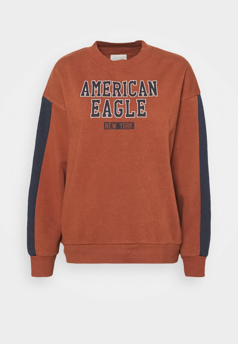 American Eagle - BRANDED CREW - Sweatshirt - rust