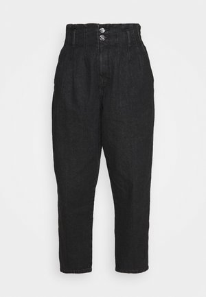 ONLPLEAT CARROW - Trousers - black denim