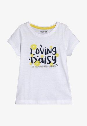 T-shirt imprimé - weiss