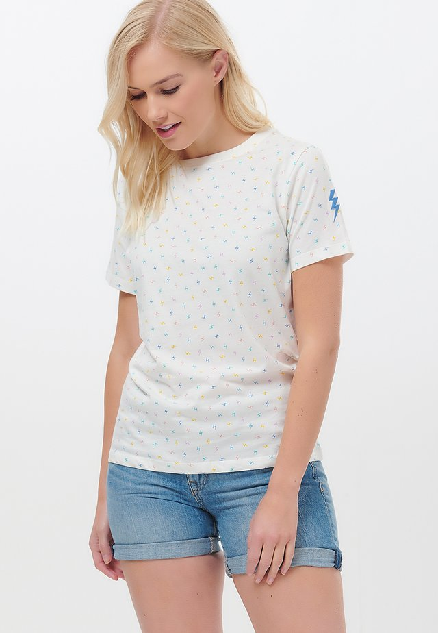 MAGGIE MINI LIGHTNING - Print T-shirt - white