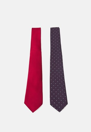 ONSTRAVIS PATTERN TIE 2 PACK - Cravatta - dark navy/plain bordeaux