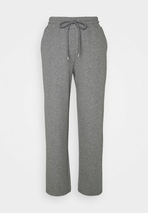 WILMA PANTS - Tracksuit bottoms - dark grey melange