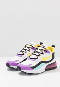 Nike Sportswear - AIR MAX 270 REACT - Sneakersy niskie - black/bicycle yellow/teal tint/violet star/pink blast/white - 3