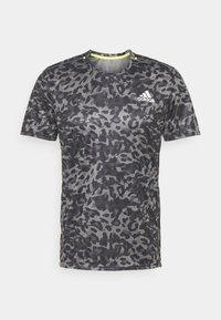 adidas Performance - TEE MEN - Camiseta estampada - grey four - 5