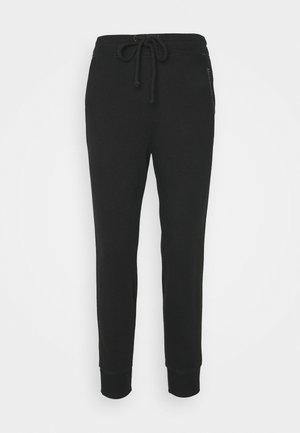 EMBROIDERED LOGO - Tracksuit bottoms - black