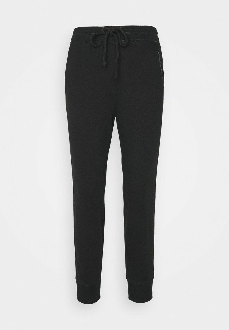 Abercrombie & Fitch - EMBROIDERED LOGO - Teplákové kalhoty - black