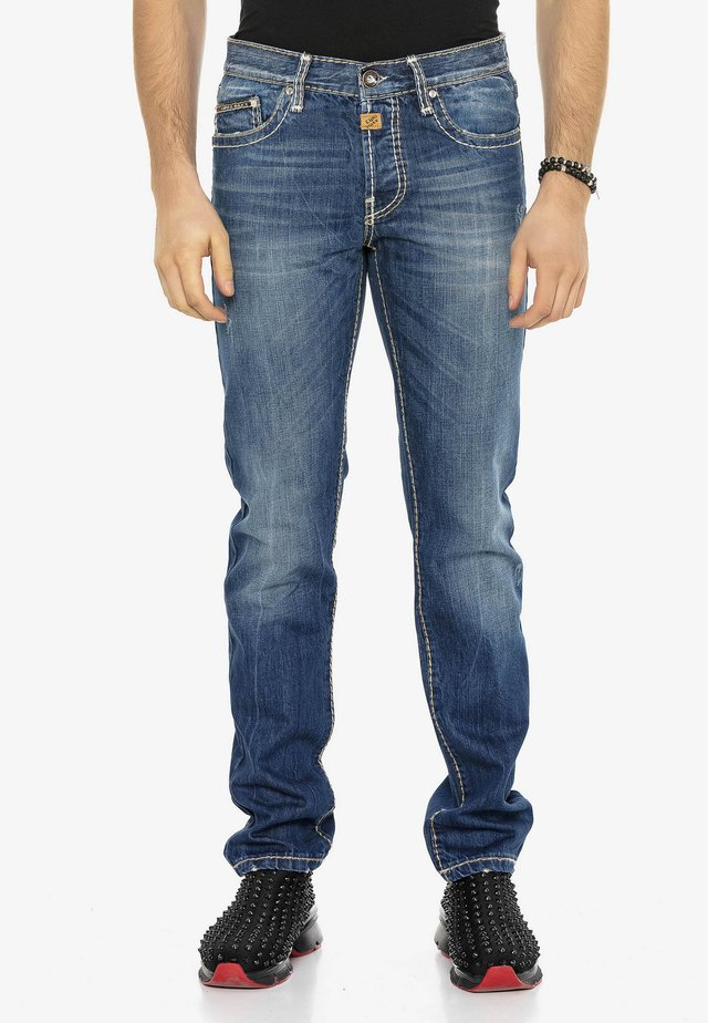 SPIJKERBROEK  - Straight leg jeans - blauw