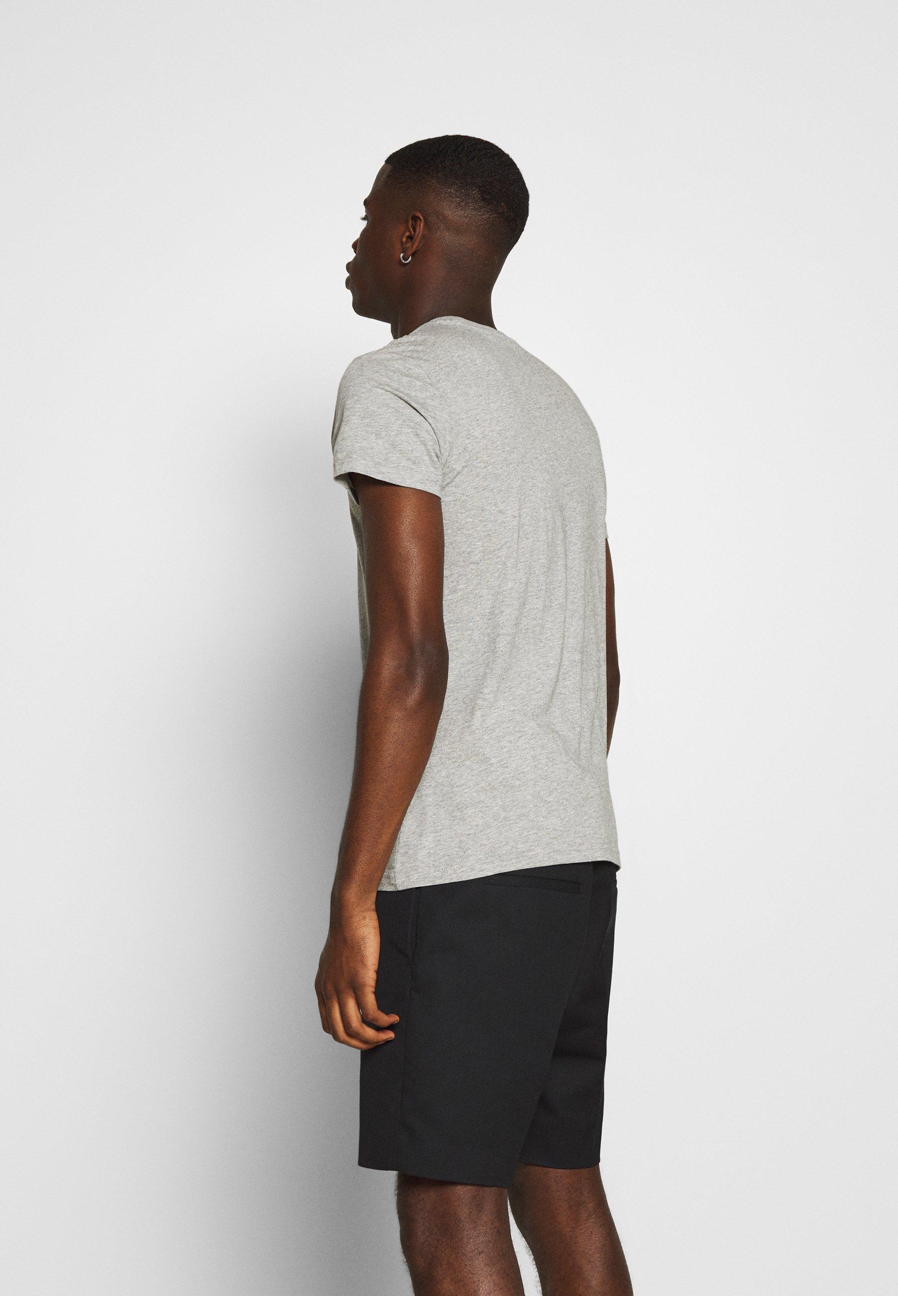 Lee Twin Pack - T-shirts Med Print Black/grey/svart