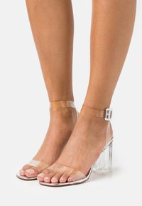 BEBO - LEAH - Sandály na vysokém podpatku - clear/silver - 0