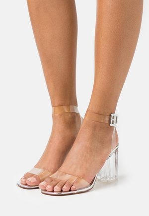 LEAH - High heeled sandals - clear/silver