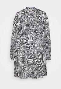 MICHAEL Michael Kors - LAWN ZEBRA MINI - Shirt dress - white/black - 4