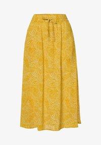 zero - MIT PRINT - A-line skirt - yellow curry - 4