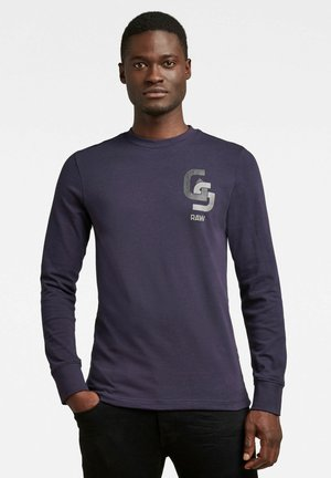 GS CHEST LOGO - Long sleeved top - sartho blue