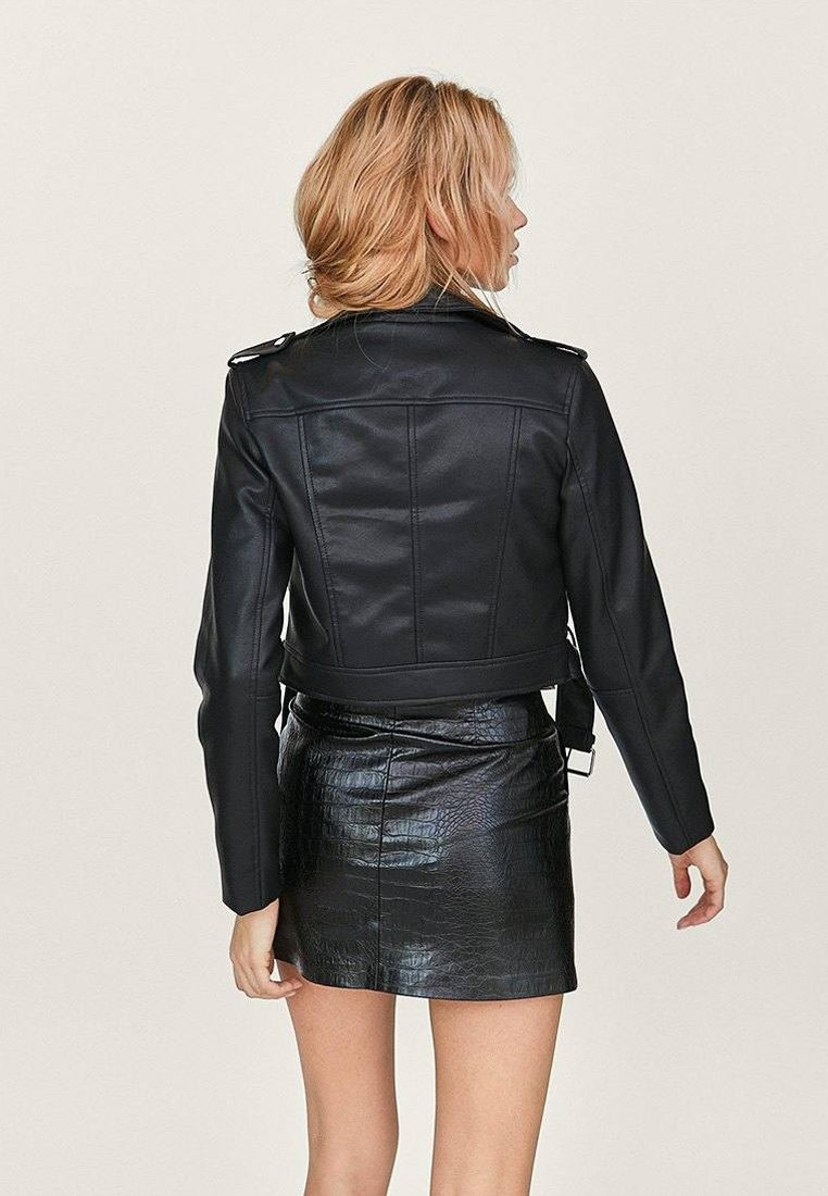 Veste en similicuir black