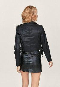 Stradivarius - Faux leather jacket - black - 2