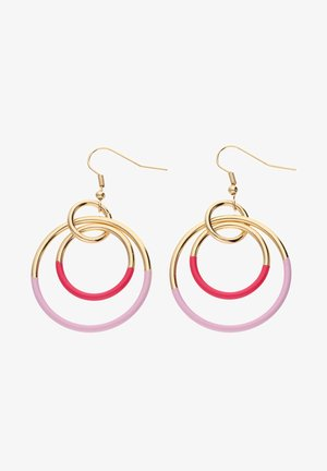 IN GLANZ-OPTIK IM ANGESAGTEN DESIGN - Earrings - goldfarben