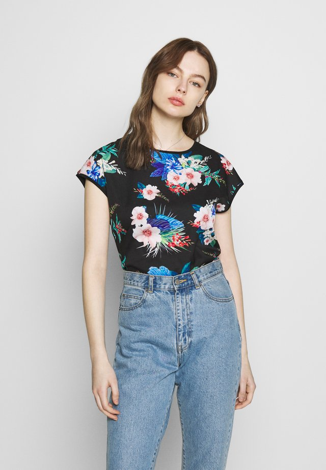 SAMMER - T-shirt z nadrukiem - black