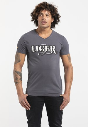 LIMITED TO 360 PIECES - SAÏD KINOS - Print T-shirt - acid grey