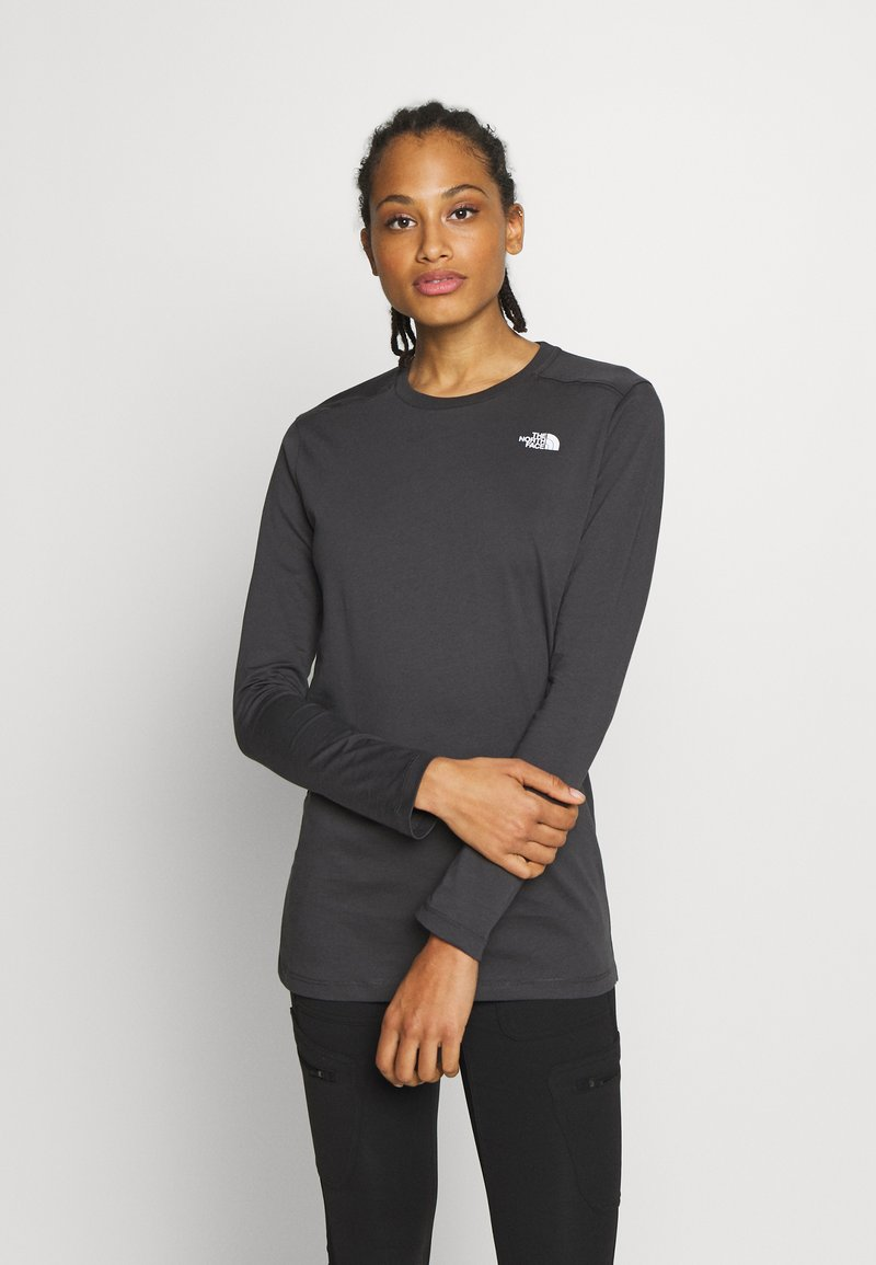 The North Face - WOMENS SIMPLE DOME TEE - Bluzka z długim rękawem - asphalt grey
