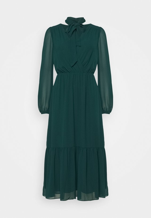 TIE NECK MIDI DRESS - Kjole - emerald green