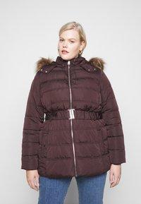 New Look Curves - ELLIE PUFFER - Parka - dark burgundy - 0