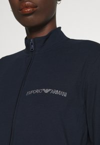 Emporio Armani - JACKET AND PANTS WITH CUFFS SET - Pyjama set - blu navy - 4