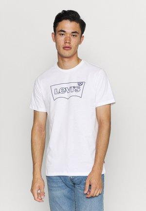 HOUSEMARK GRAPHIC TEE - Print T-shirt - outline white