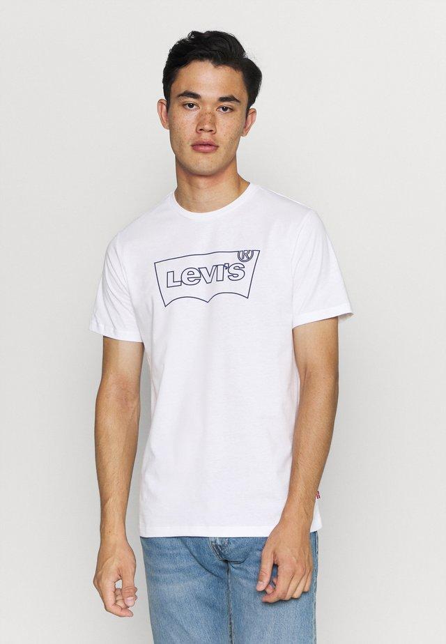 HOUSEMARK GRAPHIC TEE - T-shirt imprimé - outline white