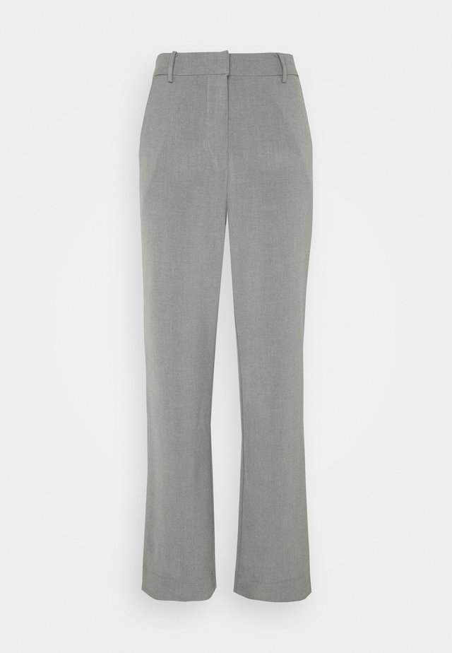 KAFIR PANTS - Tygbyxor - grey melange