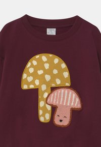 Lindex - KIDS MUSHROOM PLACED PRINT - Sweater - dark lilac