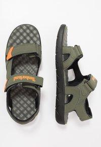 Timberland - PERKINS ROW 2 STRAP - Walking sandals - dark green - 1