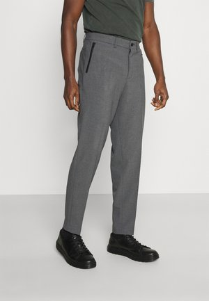 SLHSLIMTAPERED JAMES - Jakkesæt bukser - medium grey melange