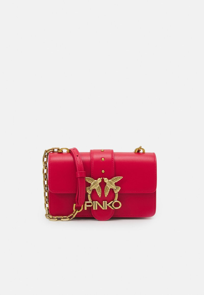 Pinko - LOVE MINI ICON SIMPLY SETA ANTIQUE - Across body bag - red