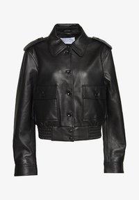 Proenza Schouler White Label - JACKET - Kožená bunda - black - 0