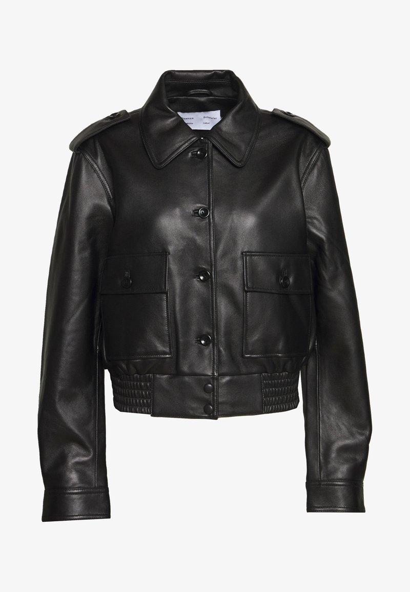 Proenza Schouler White Label - JACKET - Kožená bunda - black