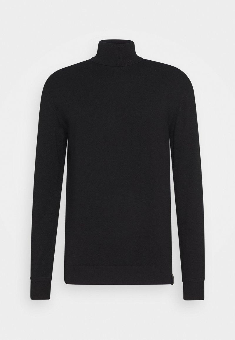 Scotch & Soda - CLASSIC TURTLENECK - Stickad tröja - black