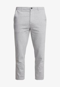 TOM TAILOR DENIM - SLIM STRUCTURE - Trousers - grey melange - 3
