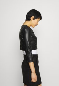 Guess - GEORGIA CROPPED - Faux leather jacket - jet blac - 3