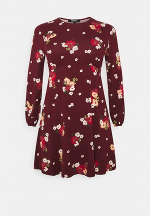 ALINE TEA DRESS - Jersey dress - dark red