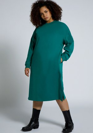 Day dress - dunkel smaragd
