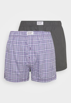 MEN CHECK 2 PACK - Boxer  - lilac/grey