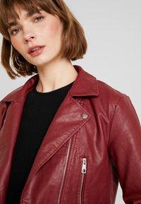 JDY - YONG JACQUELINE - Faux leather jacket - pomegranate - 3