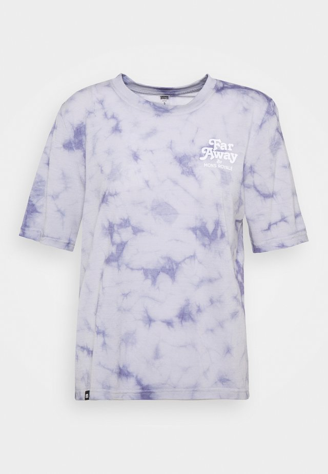 ICON RELAXED TEE  - T-shirt med print - lilac