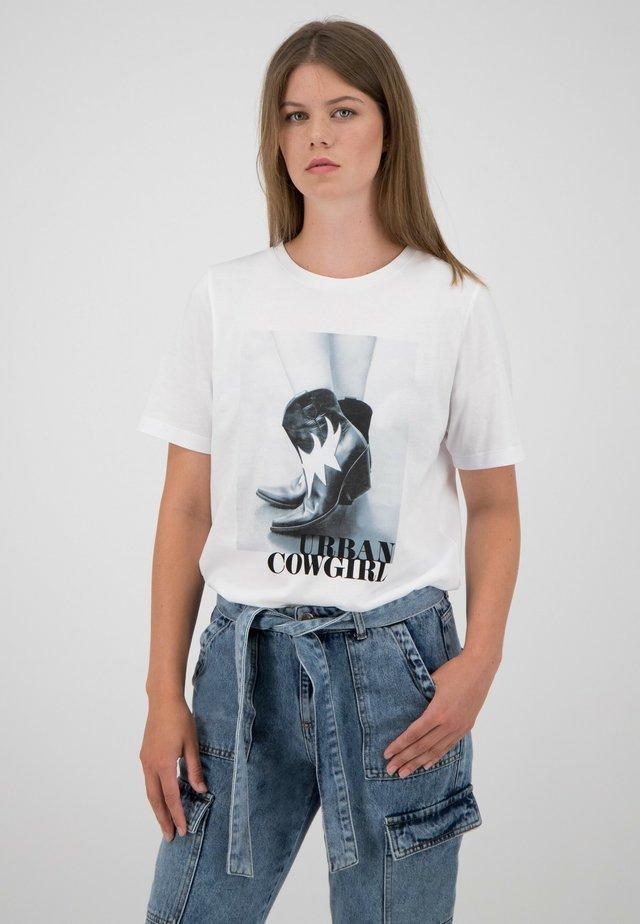 T-shirt print - weiß-multicolor