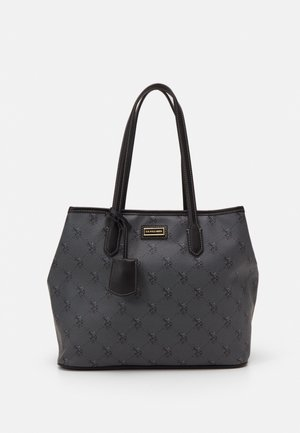 HAMPTON SHOPPING BAG PRINTED - Tote bag - black